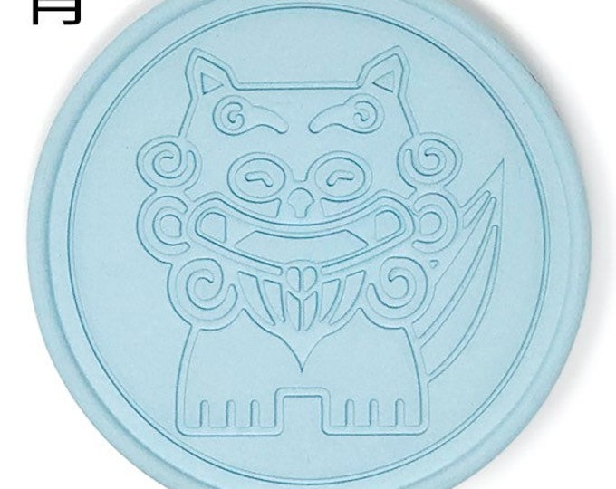 Coaster made of roof tile clay from Okinawa | Made In Japan | Dad Shisa (Deformed)