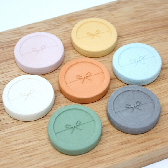 Clay Diffuser   Okinawa Clay Pebble for Essential Oil   Ribbon   available in 7 colors