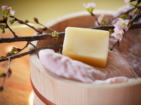 SAKE Natural Soap with Mitten