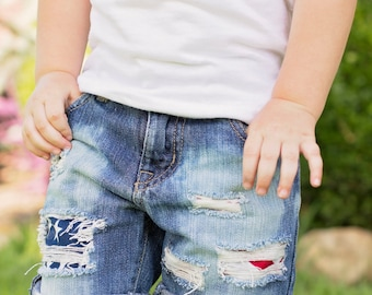 Size 4 and up Distressed Kids Shorts/Jeans/Bleached