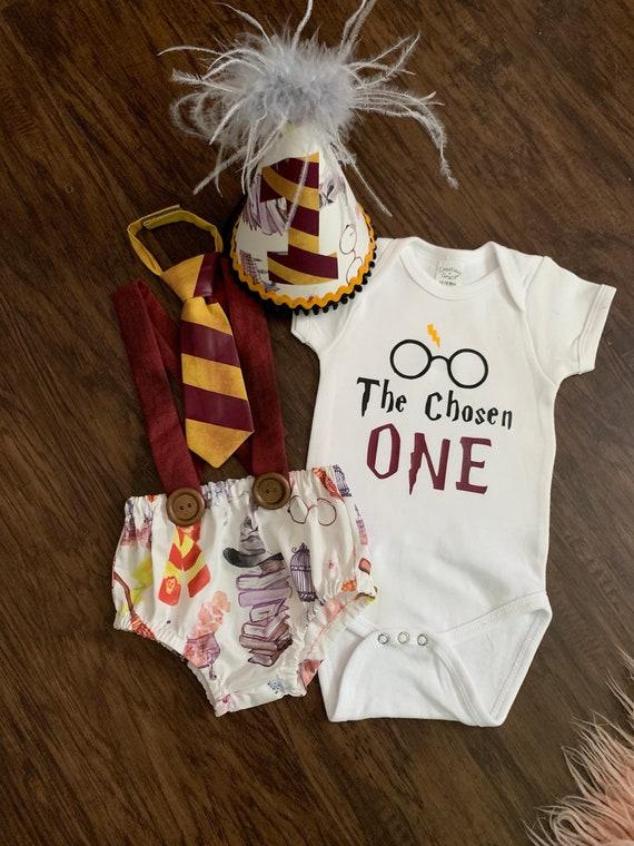Tremendous Harry Potter Custom Baby Boy Birthday Smash Cake Outfit First Etsy Personalised Birthday Cards Vishlily Jamesorg