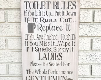 Bathroom rules | Etsy on for a safe, for a bar, for a family, for a restaurant, for a beach, for a desk, for a closet,