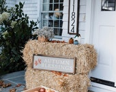 Autumn Blessings Wood Sign, Fall Home Decor, Autumn Wall Decor, Autumn Leaves, Thanksgiving Wall Decor, Rustic Wood Sign, Framed