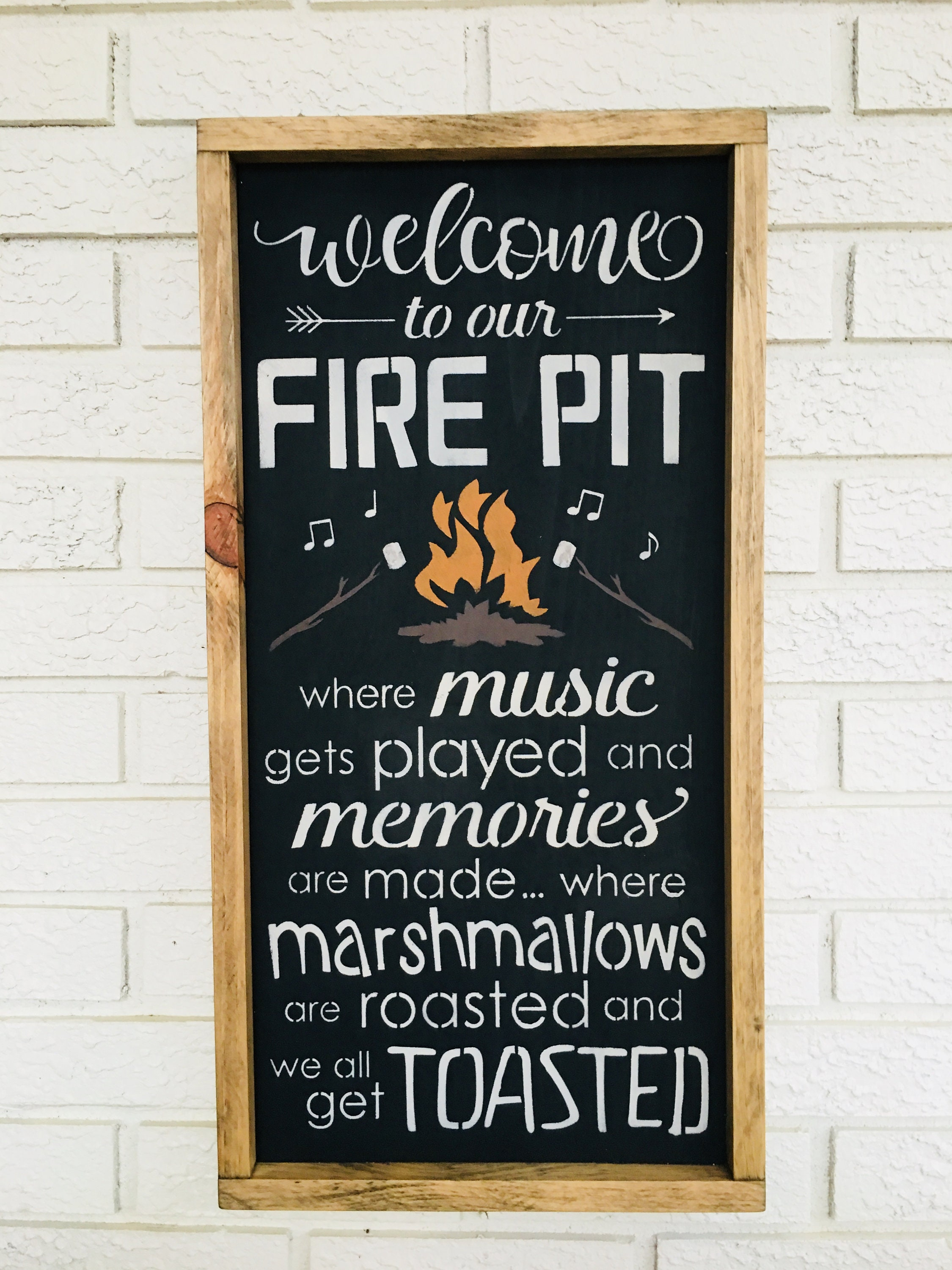 fire pit welcome sign welcome to our firepit fire pit sign