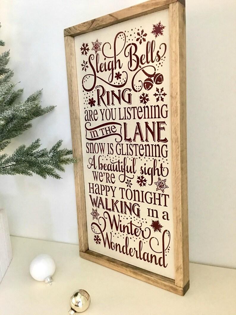 Sleigh Bells Ring Framed Winter Wonderland Song Christmas | Etsy