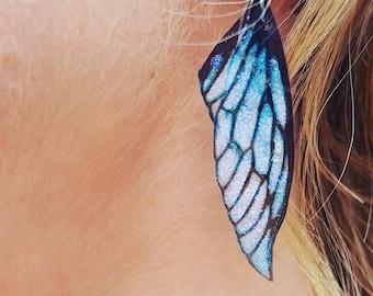 New fairy wing earrings. Ice Queen lightweight faerie glitter wings.