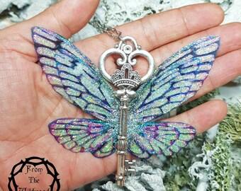 Large Enchanted Key to Faerieland Necklace.