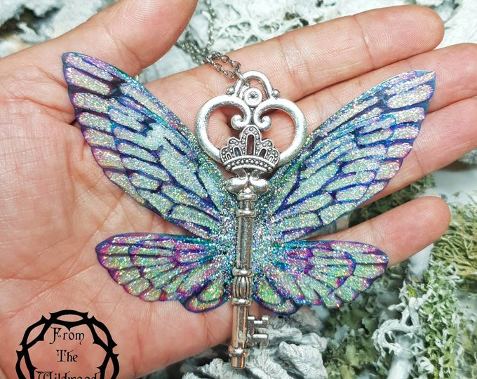 Large Enchanted Key to Faerieland Necklace.