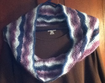 Hand knit Feather Lace Cowl