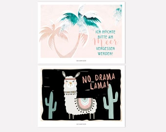 Postcards | Forgotten by the sea and No drama lama