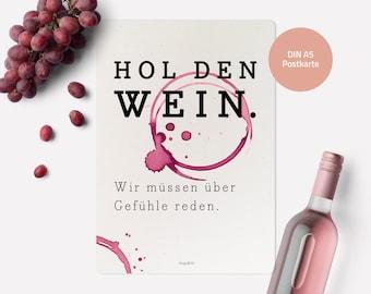 Postcard (DIN A5)   Get the wine