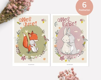Postcards | Set of 6 - All Love and All Good
