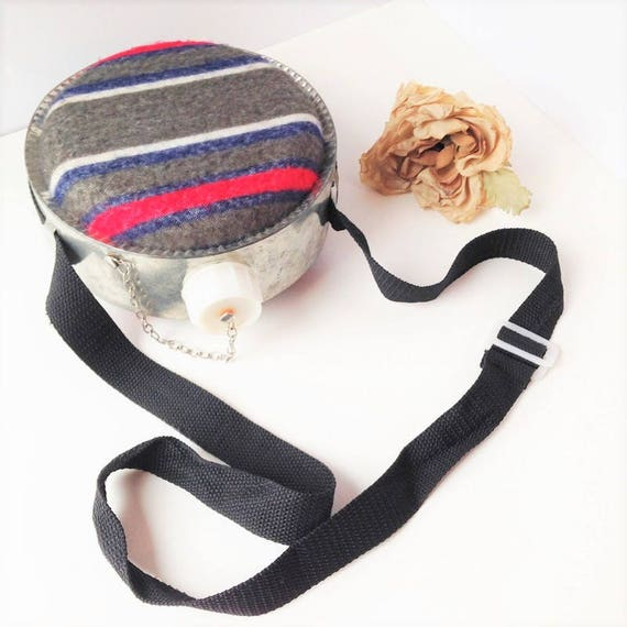 ON SALE Metal and Fabric Drinking Canteen / Metal