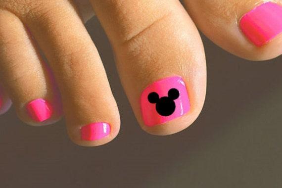 Mickey Toenail Decals Mickey Mouse Decal Mickey Toenail Art Etsy