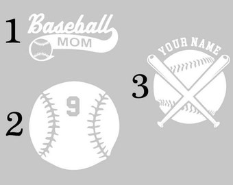 Baseball Mom Decal, Custom Baseball Decal, Baseball Decal, Personalized Baseball Decal, Baseball Mom, Baseball Decal, Baseball Window Decal,