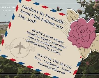 SOLD OUT!!! Restocked June 20 // Garden City Postcard - Edition 002 - JUNE 2018 - Rose / Cardamom / Fennel