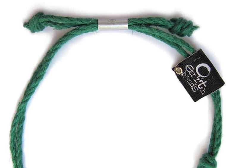 Handmade with Earth /& Sand Ganesha Earth Bands Bracelet or Anklet Vegan Boho Custom Jewelry Natural Hemp Eco Friendly