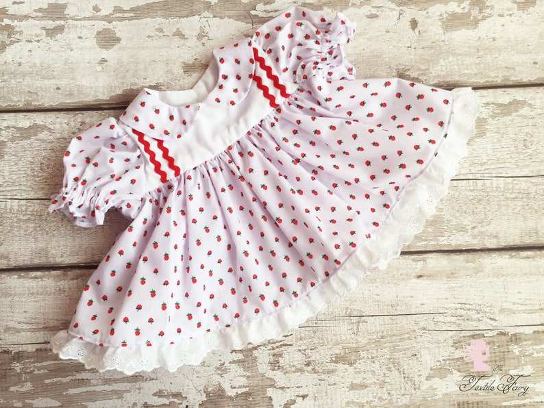 750ab8b155 Strawberry baby dress Red and white baby outfit Baby
