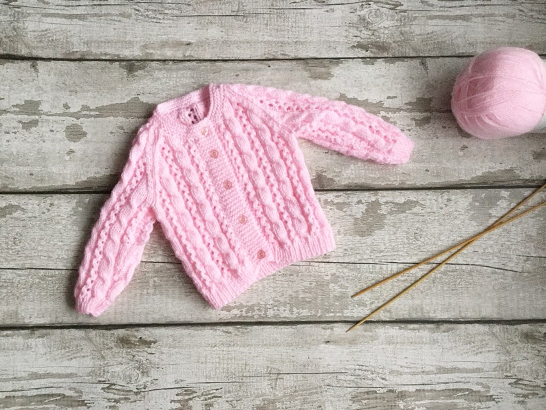 Vintage style baby cardigan Baby knitwear Wool Baby image 0