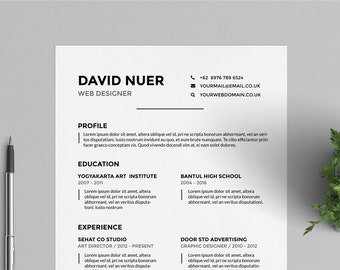 modern resume template cv template for word and indesign