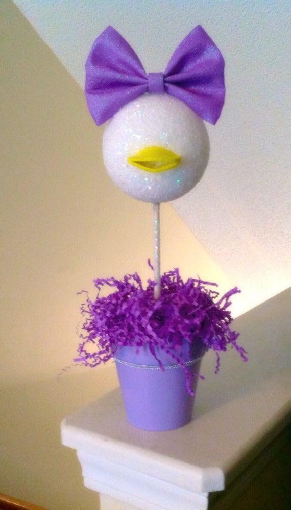 Daisy Duck inspirado centro de mesa Daisy pato cumpleaños