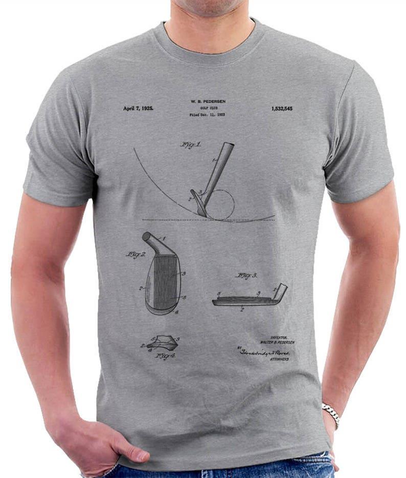 daab70247ca88 Golf Club 1923 Patent Print T Shirt, Patent Prints, Patent Art, Golf  Blueprint, Golf Print, Sports Print, Golf Club Print, Golf Ball