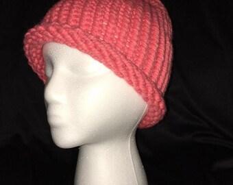 Knit Orange sherbet hat. #6