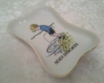 447afadcb34 Vintage Japanese Novelty Dish - Soap Dish - Boy weeing in water