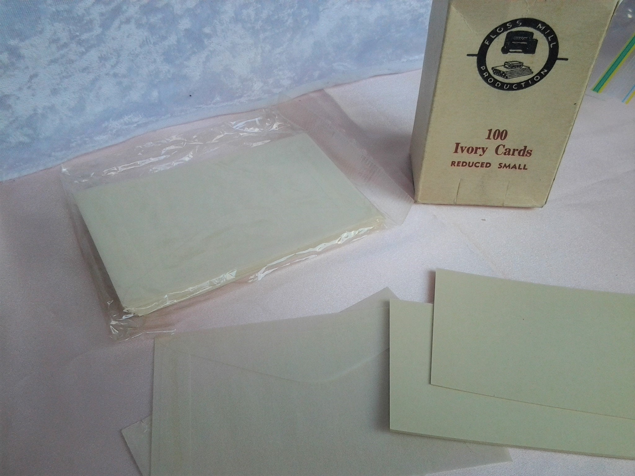1950 s ivory wedding place cards with rice paper envelopes 28 persons
