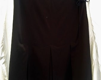 Vintage Ladies Pleated Office Skirt - Fully Lined Size 10