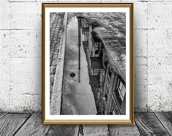 Reflection Print, Black and White Photo, City Photo, Building Reflection, Printable Art, Urban Print, Photo Print, Architecture Print