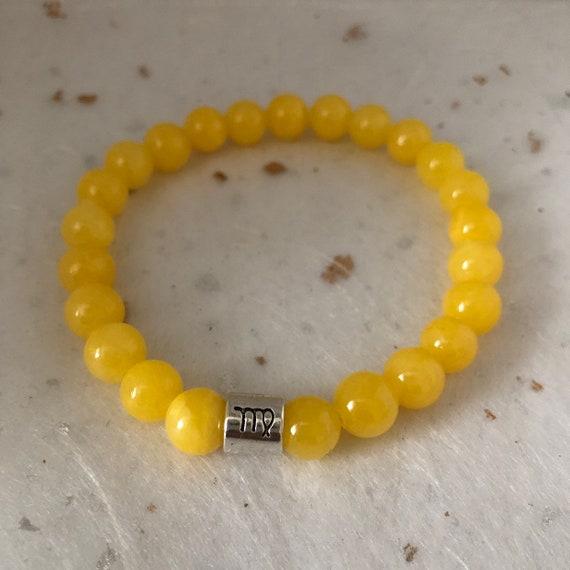 Gold Sandstone Virgo Star Sign Zodiac Sign Bracelet