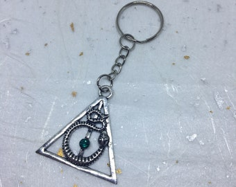 Harry Potter Inspired Keyring Keychain Deathly Hallows Unisex