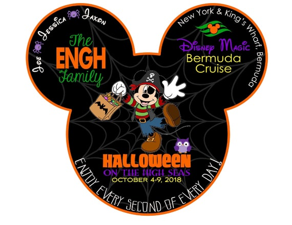Disney Halloween Cruise Magnet Custom Trick Or Treat Mickey Etsy