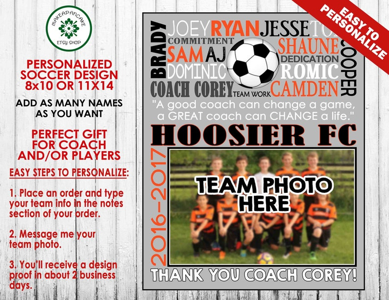 aa7813712 FOOTBALL COACH GIFT Customized Football Team Gift End of