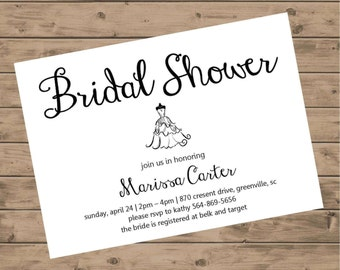 Bridal Shower Invitation DIGITAL