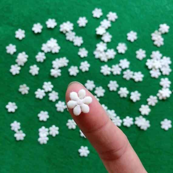 Tiny White Flowers 50pcs / 100 pcsMini Flat back Flower   Etsy