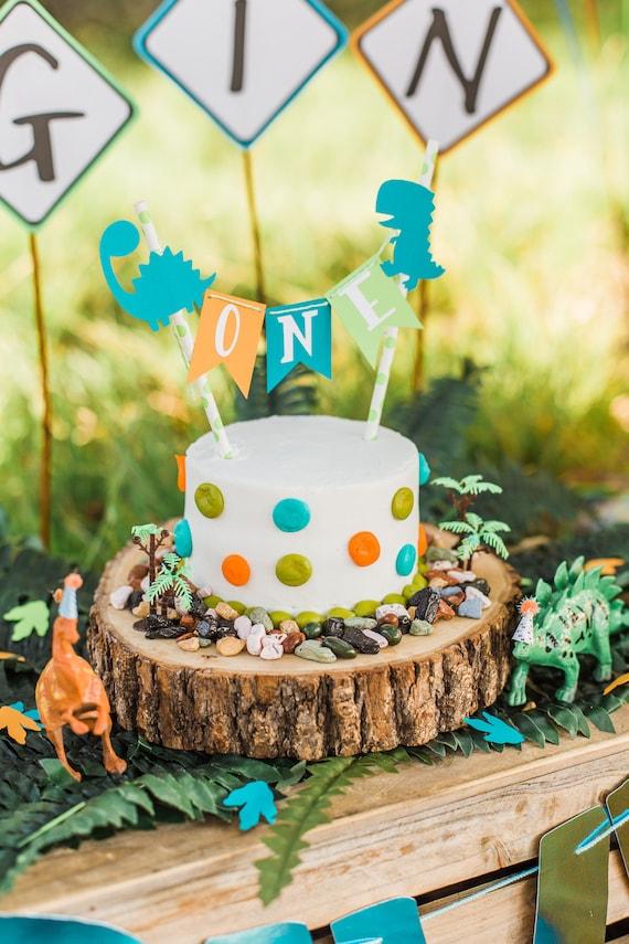 Dinosaur Cake Topper Dinosaur Birthday Dinosaur Smash Cake