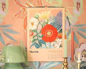 2022 Art Calendar   Wall decor   desk office decor   wall art  