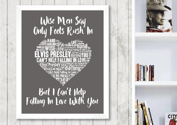 Jailhouse Rock Black Heart Song Lyric Art Music Quote Gift Poster Print