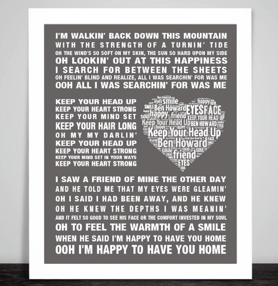 Framed Original Art Ben Howard Poster Every Kingdom Album Print Lyrics Gift