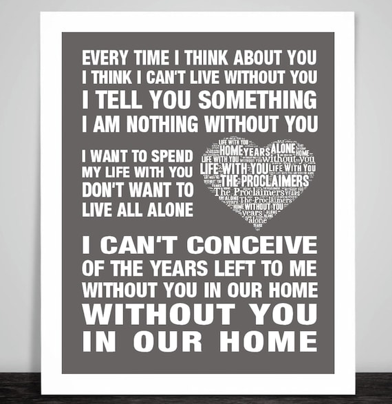 November Rain Guns N Roses  Song Lyrics Typography Print Poster Artwork Home