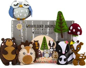 Kids Sewing Kit: Woodland Animal Crafts for Girls and Boys Sewing Kit for Kids Art Craft Kits for Girls