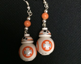 Star Wars The Last Jedi Inspired BB-8 Droid earrings
