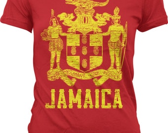 Jamaican Pride Coat of Arms Out of Many One People Kingston Hoodie Pullover