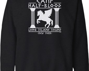 Camp half-Blood hoodyPegasus Horse Long Island greek god HOODIE JUMPER mens kids