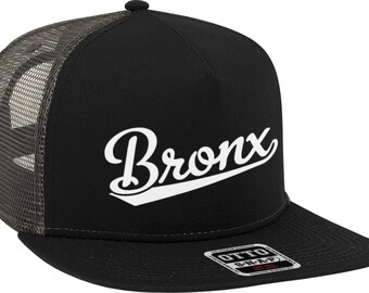 a5cb16db400 Bronx Script Baseball Font Snapback Trucker Hat NOFO H032