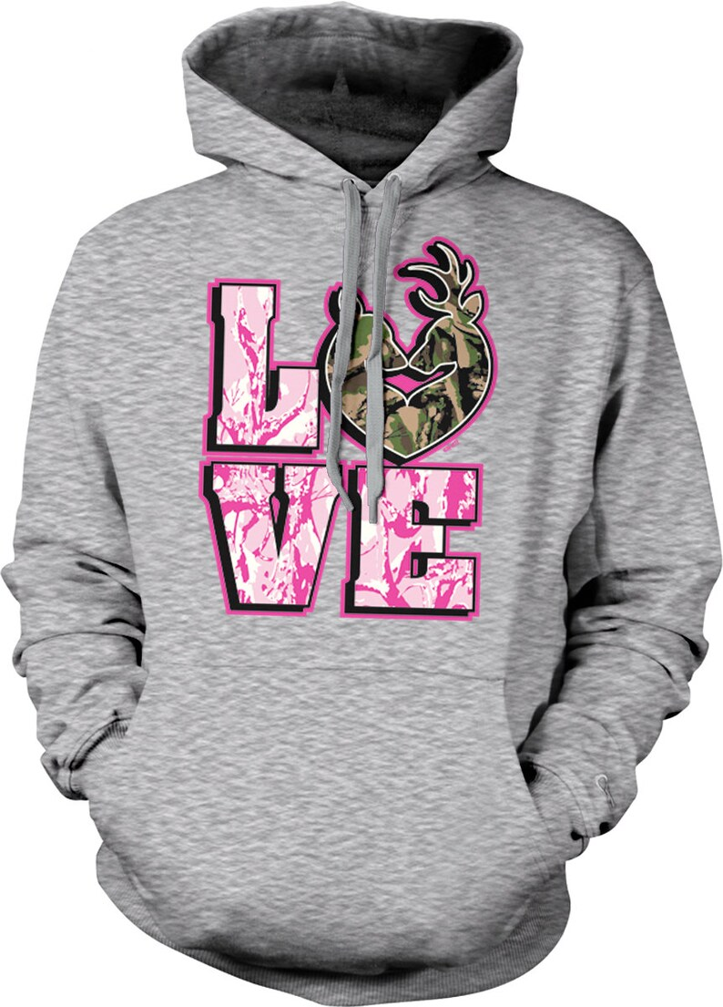 b31260313841a Love Hunting Camo Deer Couple Love Rack Hooded Sweatshirt | Etsy
