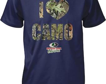 I Love Camo, I Heart Camo, Mossy Oak Obsession Camouflage Men's T-shirt, NOFO_00817