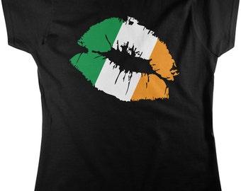 Irish Lips, St. Patrick's Day, Irish Pride, Irish Kiss Women's T-shirt, NOFO_00152